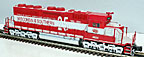 Atlas-O 1550 Wisconsin & Southern SD40 Low Nose Non-Powered Diesel Unit Custom Decorated
