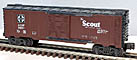 K-Line K64851 Santa Fe ATSF The Scout Map Boxcar