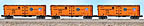 Lionel 6-11872 Pacific Fruit Express Steel-sided Refrigerator Car 3-Pack Std. O Set #1