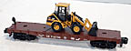 American Flyer (By Lionel) 6-48528 Conrail Flatcar with Die-Cast Caterpillar Wheel Loader S-Gauge