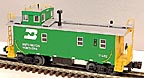 MTH Premier 20-91026 Burlington Northern Steel Caboose