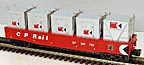 MTH 30-72096 CP Rail Gondola with 5-LCL Containers