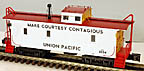 MTH Premier 20-91140 Union Pacific CA-1 Woodsided Caboose #2654