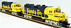 Atlas-O 1138-2 & 1188-1 Santa Fe GP-35 Diesel Set Powered & Dummy with TMCC