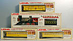 Lionel 6-8701, 6-9551, 6-9552, 6-9552 The General Steam Passenger Set