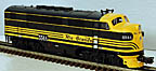 Atlas-O 1615-3 Rio Grande F3 A-Unit Powered Diesel Engine with TMCC, #554A
