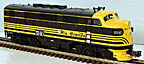 Atlas-O 1615-4 Rio Grande F3 A-Unit Powered Diesel Engine with TMCC, #554D