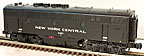Lionel 6-14555 New York Central Non-Powered F-3 B-Unit TMCC Equipped