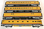 MTH Premier 20-3579 Union Pacific 70' Streamlined 4-Car Passenger Set