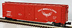 Lionel 6-17283 Gulf, Mobile & Ohio A.A.R. Double Door Boxcar with Auto Frames Load
