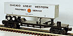 Lionel 6-26310 Chicago Great Western Flatcar with Trailer