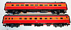 MTH Premier 20-66042 Southern Pacific Daylight 2-Car 70' Streamlined Sleeper Diner Passenger Set