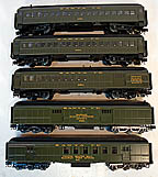 Atlas-O Trainman Santa Fe 5-Car 60' Passenger Car Set