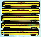 "Weaver Union Pacific 5-Car 21"" Aluminum Passenger Car Set Yellow"