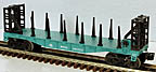 Lionel 6-26030 New York Central Flatcar with Bulkheads and Side Stakes