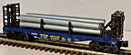 Lionel 6-26650 Minneapolis & St. Louis Bulkhead Flatcar with Pipes Load