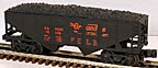 Industrial Rail IDM4002 Rio Grande D&RGW Hopper with Coal Load
