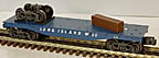 K-Line K661-3744 Long Island RR Flatcar with Truck and Ties Load