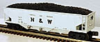 MTH 30-7515 Norfolk & Western Semi-Scale Hopper with Coal Load