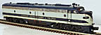 MTH Premier 20-21043-4 Richmond, Fredericksburg & Potomac E-8 A-Unit Non-Powered
