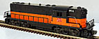 Lionel 2338 Milwaukee Road GP-7 Diesel Engine Continuous Orange Band - Postwar, PRICE CUT! WAS $999