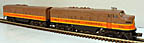 Lionel 2363 Illinois Central F-3 AB Diesel Engine Set - Postwar