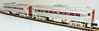 Williams BC-502 Amtrak Budd Car Set Powered and Dummy Units