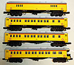 Williams M1003 Chessie System 60' Semi-Scale Madison 4-Car Passenger Set