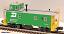 MTH Premier 20-91026 Burlington Northern Steel Caboose