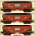 Industrial Rail IDM4050 Frisco Hopper with Coal Load 3-Pack